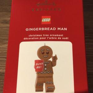 Hallmark gingerbread man ornament LEGO keepsake